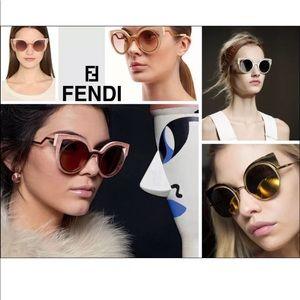 a75725c7e8abf Fendi Accessories - Fendi FF 0149 S Iridia White Cateye Sunglasses